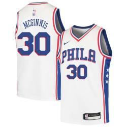 George McGinnis Twill Basketball Jersey -76ers #30 McGinnis Twill Jerseys, FREE SHIPPING