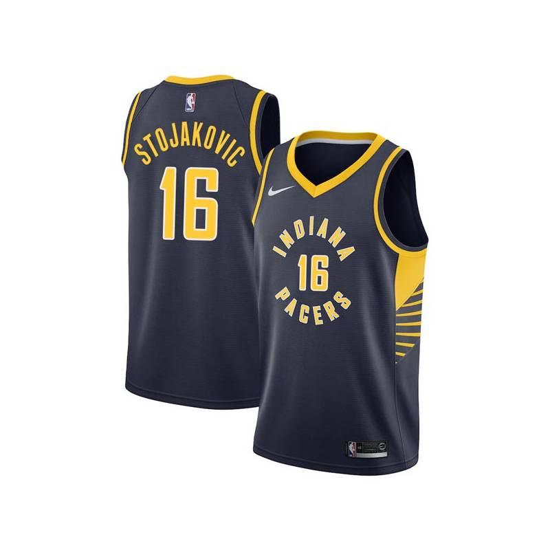 e3e9cc07b38 Indiana 16 Peja Stojakovic Pacers Twill Basketball Jersey Free Shipping
