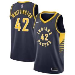 Shayne Whittington Pacers #42 Twill Basketball Jersey FREE SHIPPING