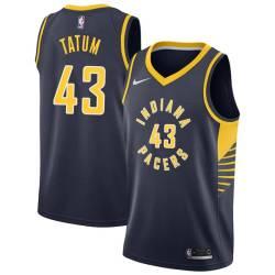 Earl Tatum Pacers #43 Twill Basketball Jersey FREE SHIPPING