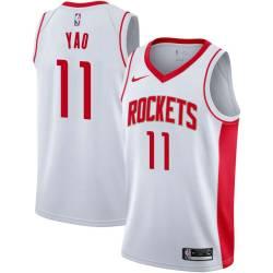 Yao Ming Twill Basketball Jersey -Rockets #11 Ming Twill Jerseys, FREE SHIPPING