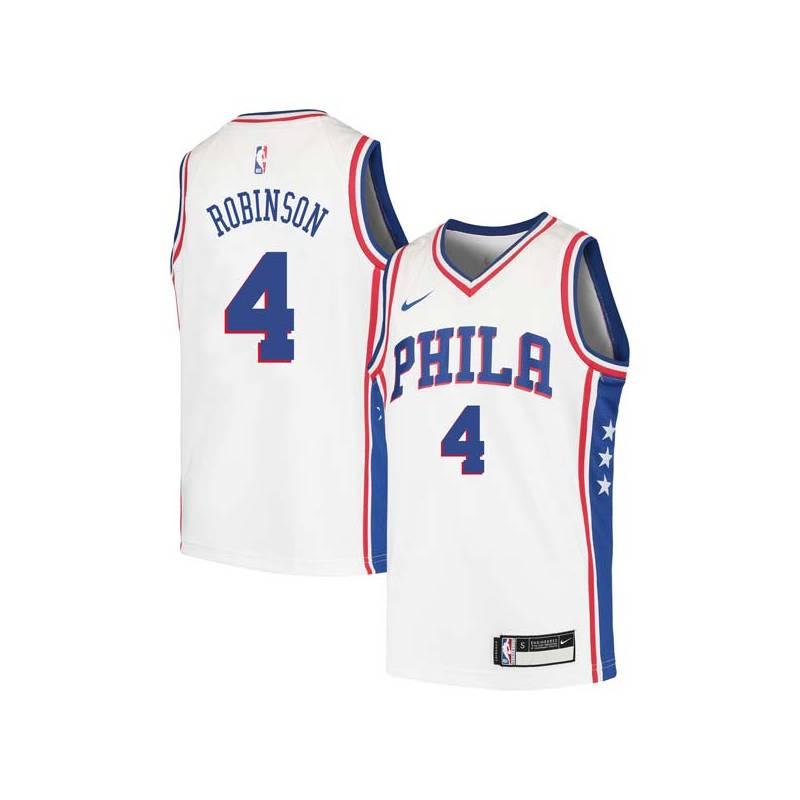 Cliff Robinson Twill Basketball Jersey -76ers #4 Robinson Twill Jerseys, FREE SHIPPING