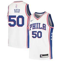 Robert Reid Twill Basketball Jersey -76ers #50 Reid Twill Jerseys, FREE SHIPPING