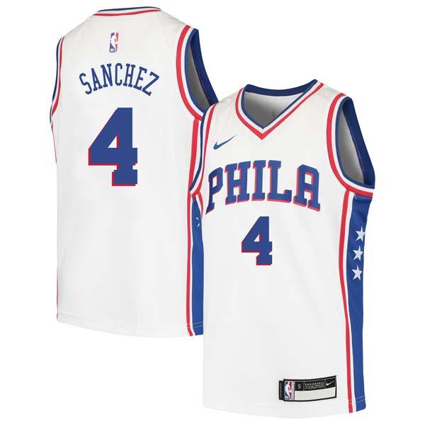 Pepe Sanchez 76ers #4 Twill Jerseys free shipping