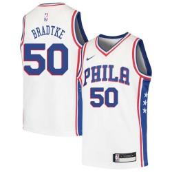 Mark Bradtke Twill Basketball Jersey -76ers #50 Bradtke Twill Jerseys, FREE SHIPPING
