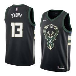 Jordan Nwora Bucks #13 Twill Basketball Jersey FREE SHIPPING