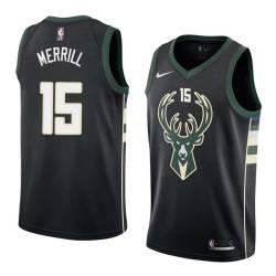 Sam Merrill Bucks #15 Twill Basketball Jersey FREE SHIPPING