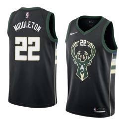 Khris Middleton Bucks #22 Twill Basketball Jersey FREE SHIPPING