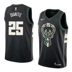 Mamadi Diakite Bucks #25 Twill Basketball Jersey FREE SHIPPING