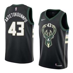 Thanasis Antetokounmpo Bucks #43 Twill Basketball Jersey FREE SHIPPING