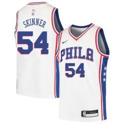 Brian Skinner Twill Basketball Jersey -76ers #54 Skinner Twill Jerseys, FREE SHIPPING
