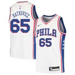 George Ratkovicz Twill Basketball Jersey -76ers #65 Ratkovicz Twill Jerseys, FREE SHIPPING