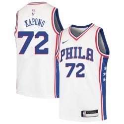Jason Kapono Twill Basketball Jersey -76ers #72 Kapono Twill Jerseys, FREE SHIPPING