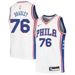Shawn Bradley Twill Basketball Jersey -76ers #76 Bradley Twill Jerseys, FREE SHIPPING