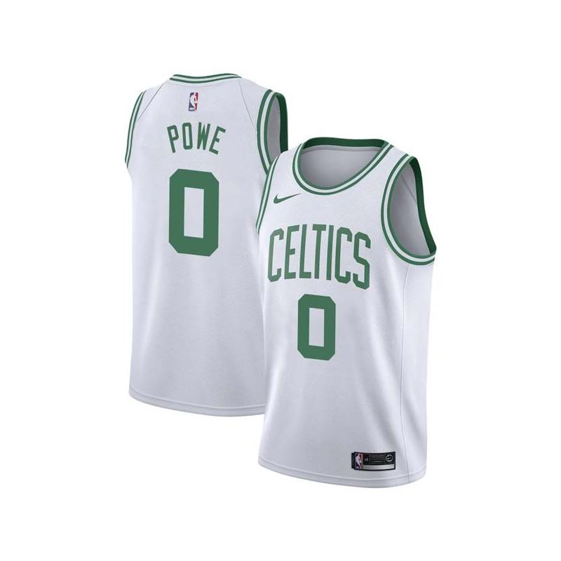 Leon Powe Twill Basketball Jersey -Celtics #0 Powe Twill Jerseys, FREE SHIPPING