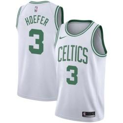 Charlie Hoefer Twill Basketball Jersey -Celtics #3 Hoefer Twill Jerseys, FREE SHIPPING