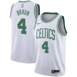 Carl Braun Twill Basketball Jersey -Celtics #4 Braun Twill Jerseys, FREE SHIPPING