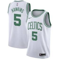 Cecil Hankins Twill Basketball Jersey -Celtics #5 Hankins Twill Jerseys, FREE SHIPPING