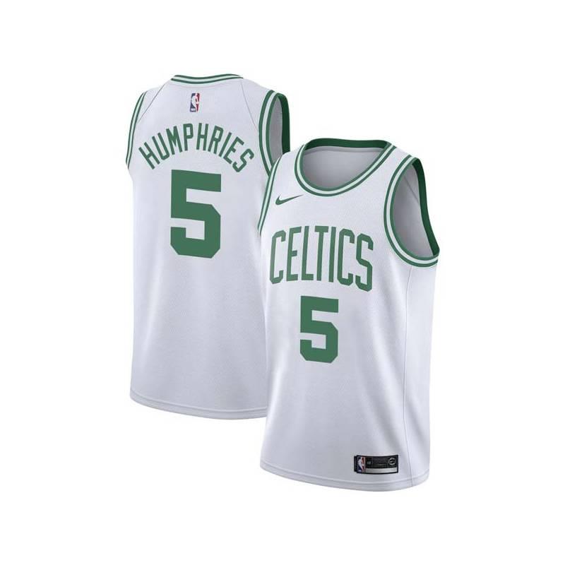 Jay Humphries Twill Basketball Jersey -Celtics #5 Humphries Twill Jerseys, FREE SHIPPING