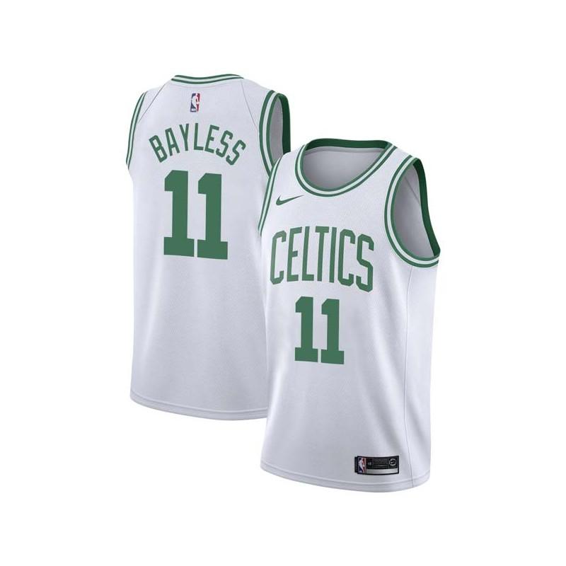 Jerryd Bayless Twill Basketball Jersey -Celtics #11 Bayless Twill Jerseys, FREE SHIPPING