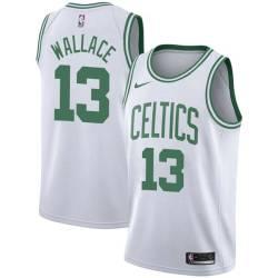 Red Wallace Twill Basketball Jersey -Celtics #13 Wallace Twill Jerseys, FREE SHIPPING