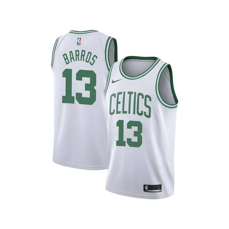 Dana Barros Twill Basketball Jersey -Celtics #13 Barros Twill Jerseys, FREE SHIPPING