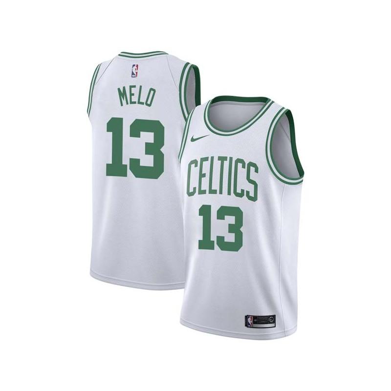 Fab Melo Twill Basketball Jersey -Celtics #13 Melo Twill Jerseys, FREE SHIPPING