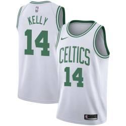 Jerry Kelly Twill Basketball Jersey -Celtics #14 Kelly Twill Jerseys, FREE SHIPPING