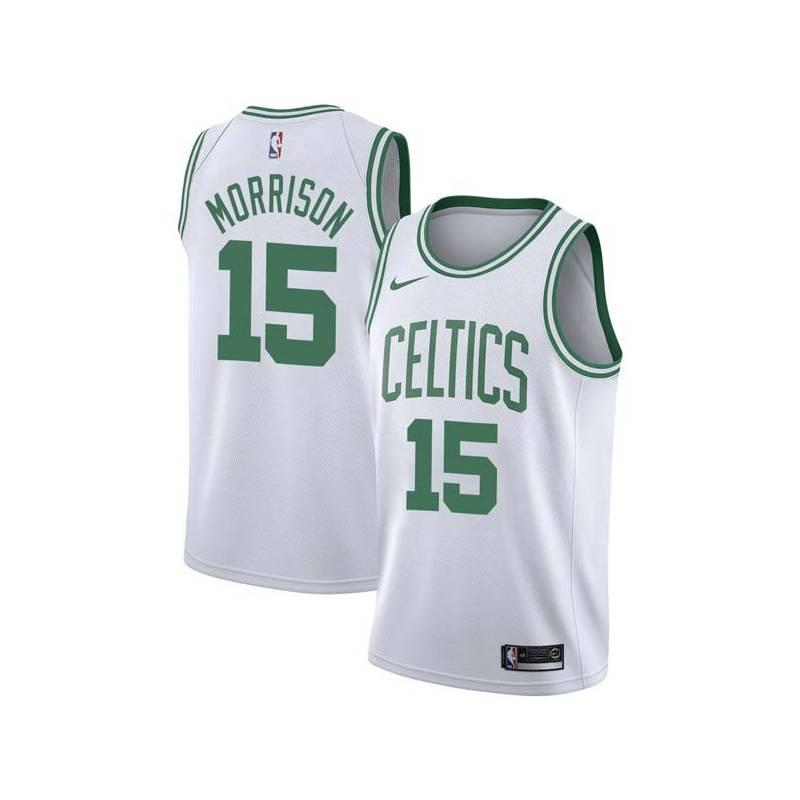 Red Morrison Twill Basketball Jersey -Celtics #15 Morrison Twill Jerseys, FREE SHIPPING