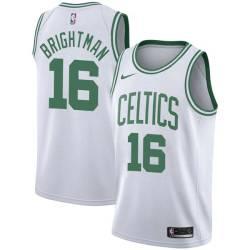 Al Brightman Twill Basketball Jersey -Celtics #16 Brightman Twill Jerseys, FREE SHIPPING