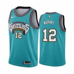 Ja Morant Grizzlies #12 Twill Basketball Jersey FREE SHIPPING