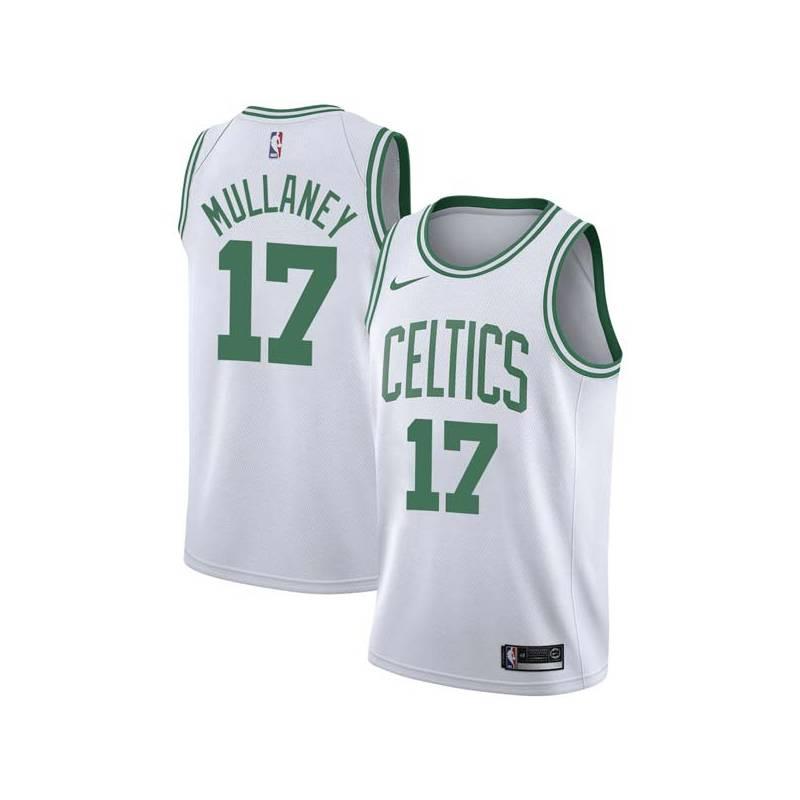 Joe Mullaney Twill Basketball Jersey -Celtics #17 Mullaney Twill Jerseys, FREE SHIPPING
