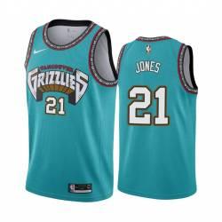 Tyus Jones Grizzlies #21 Twill Basketball Jersey FREE SHIPPING