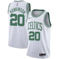 Phil Hankinson Twill Basketball Jersey -Celtics #20 Hankinson Twill Jerseys, FREE SHIPPING