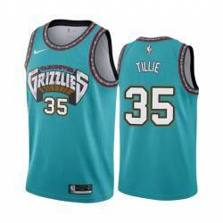 Killian Tillie Grizzlies #35 Twill Basketball Jersey FREE SHIPPING