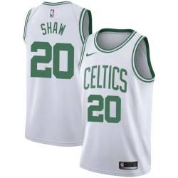 Brian Shaw Twill Basketball Jersey -Celtics #20 Shaw Twill Jerseys, FREE SHIPPING