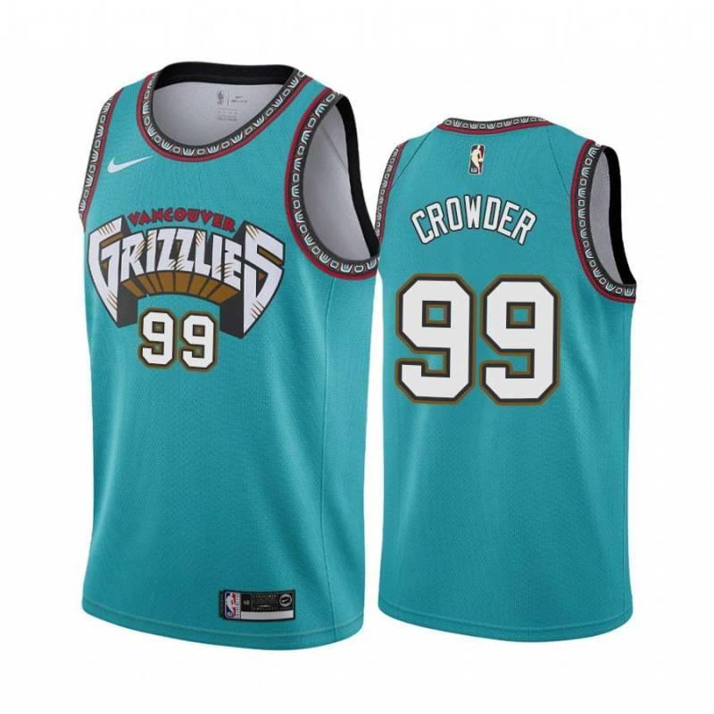 Jae Crowder Grizzlies #99 Twill Basketball Jersey FREE SHIPPING