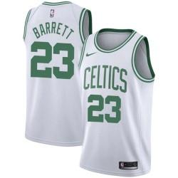 Ernie Barrett Twill Basketball Jersey -Celtics #23 Barrett Twill Jerseys, FREE SHIPPING