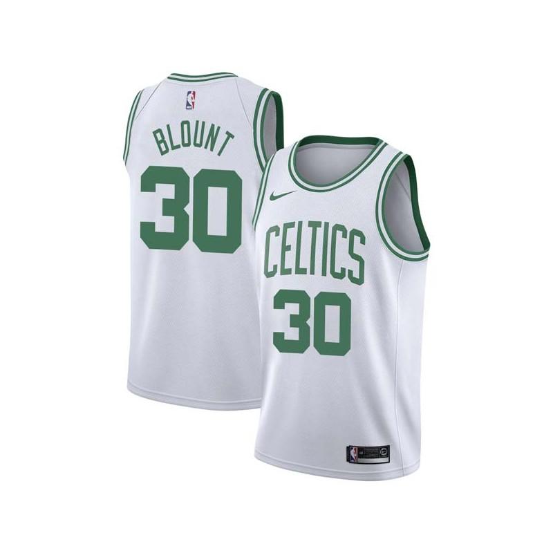Mark Blount Twill Basketball Jersey -Celtics #30 Blount Twill Jerseys, FREE SHIPPING