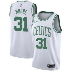 Mikki Moore Twill Basketball Jersey -Celtics #31 Moore Twill Jerseys, FREE SHIPPING