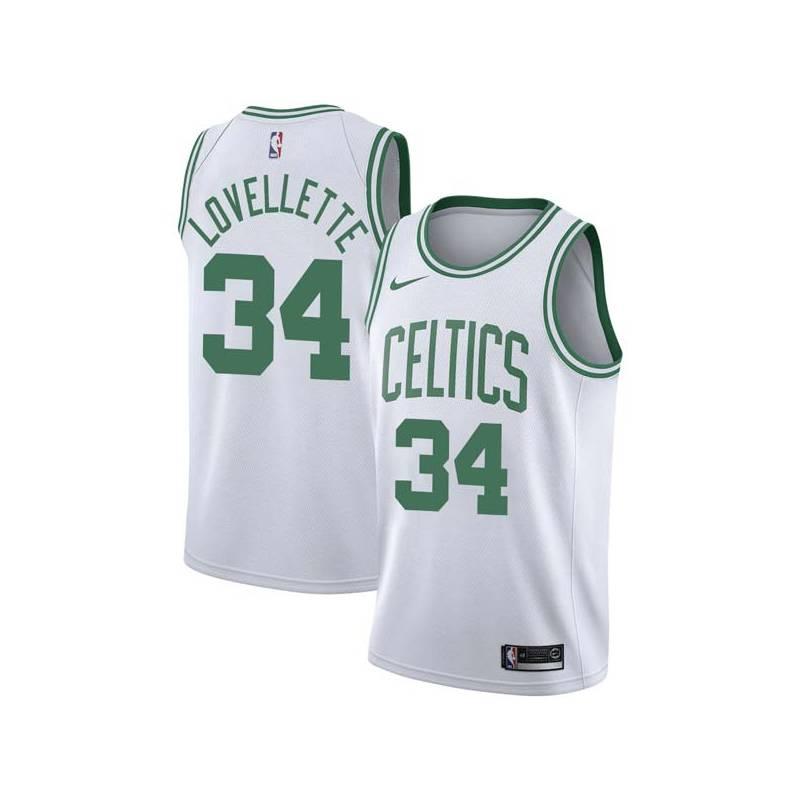 Clyde Lovellette Twill Basketball Jersey -Celtics #34 Lovellette Twill Jerseys, FREE SHIPPING