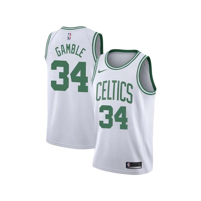 Kevin Gamble Twill Basketball Jersey -Celtics #34 Gamble Twill Jerseys, FREE SHIPPING