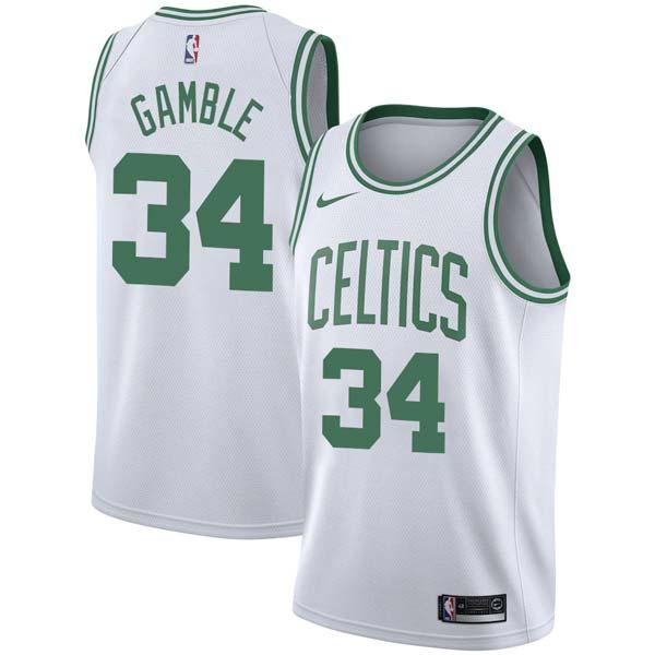 new style 4597b 01c79 Kevin Gamble Celtics #34 Twill Jerseys free shipping