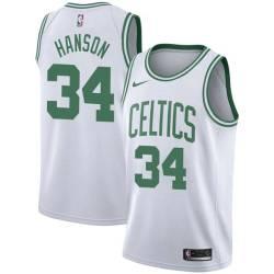 Reggie Hanson Twill Basketball Jersey -Celtics #34 Hanson Twill Jerseys, FREE SHIPPING