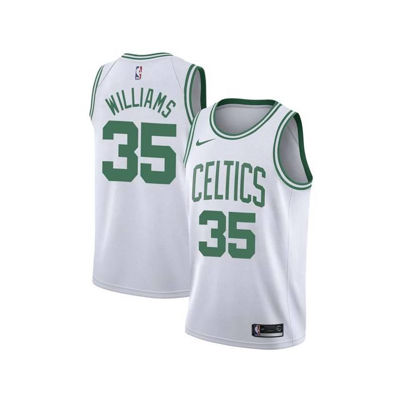 Sly Williams Twill Basketball Jersey -Celtics #35 Williams Twill Jerseys, FREE SHIPPING