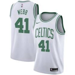 Marcus Webb Twill Basketball Jersey -Celtics #41 Webb Twill Jerseys, FREE SHIPPING
