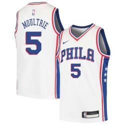 Arnett Moultrie Twill Basketball Jersey -76ers #5 Moultrie Twill Jerseys, FREE SHIPPING