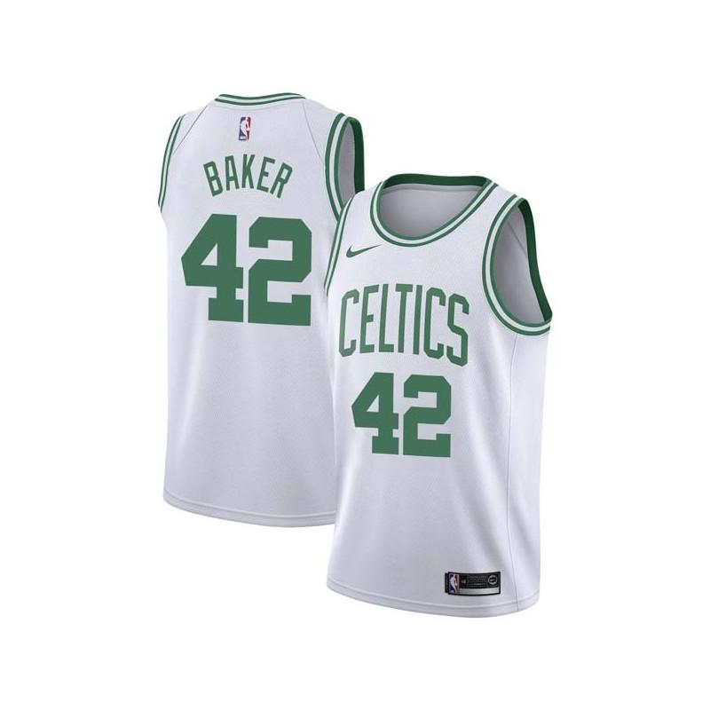 Vin Baker Twill Basketball Jersey -Celtics #42 Baker Twill Jerseys, FREE SHIPPING