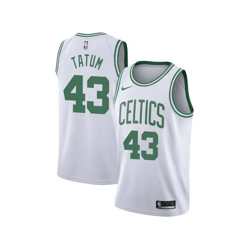 timeless design 4aa1e 8e5b1 Earl Tatum Celtics #43 Twill Jerseys free shipping