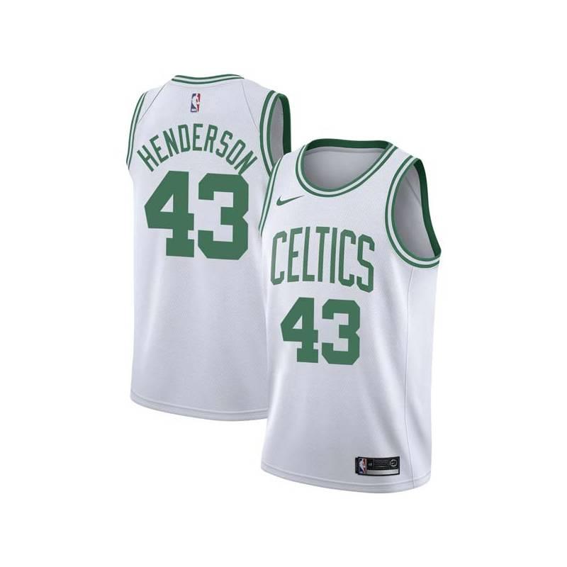 Gerald Henderson Twill Basketball Jersey -Celtics #43 Henderson Twill Jerseys, FREE SHIPPING